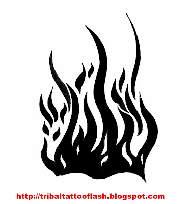 Free Tattoo Flash: Fire Traced and hated hands