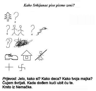 srbijanac pise pismo