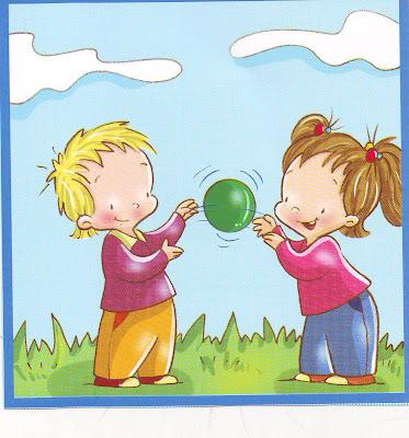 Eduquemos con amor laminas ni os y ni as jugando - Dibujos infantiles de ninos jugando ...