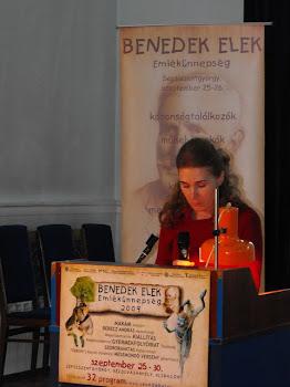 Előadás az erdélyi gyerekkönyvkiadásról, A magyar népmese napja, Sepsiszentgyörgy, 2009.