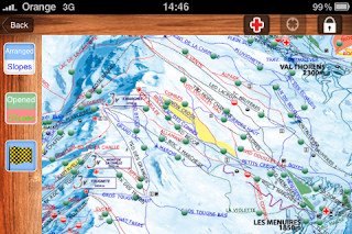 Les 3 Vallees map on iPhone app