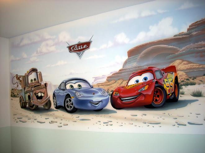 Fernando Pow Pintura em Quarto de Bebê e Criança - Carros Disney/Pixar.