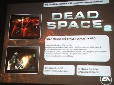 dead-space-2 Dead Space 2 para iPad em Dezembro