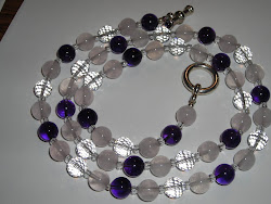 Rose Quartz, Crystal, Amethyst Necklace