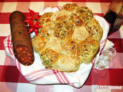 Életkerék kenyér rozslisztből