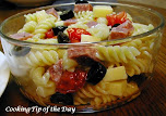 Quick & Easy Salami and Provolone Pasta Salad