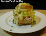 Cheddar and Chive Scrambled Eggs in a Pastry Shell