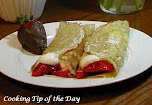 Strawberries & Chantilly Cream Dessert Crepes