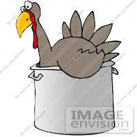 clip art graphic of a thankstiving turkey bird chilling