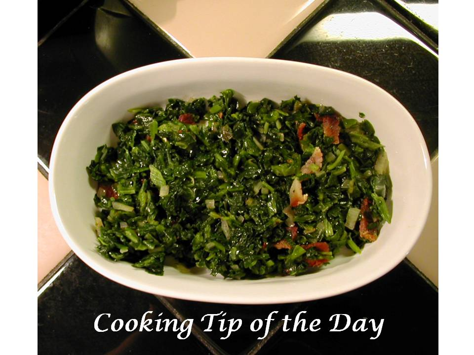 Sauteed Spinach With Bacon, Bacon Grease, Shallots ...