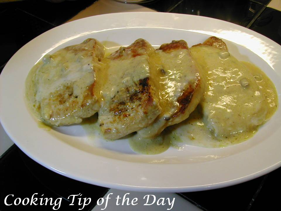 Cooking Tip of the Day: Recipe: Creamy Mustard Pork Chops