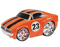 Radio Control Car - An orange 'Low-rides' Dodge Charger.