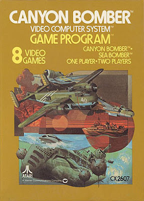 Canyon Bomber - 1978 Atari VCS Game Box.