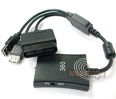 Image of a Playstation 2 to Xbox 360 converter.