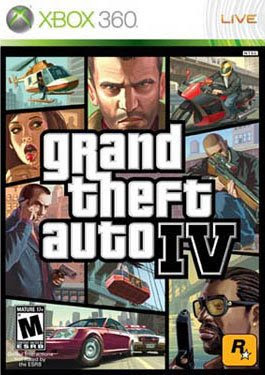 Grand Theft Auto Four Xbox 360 Box Cover.