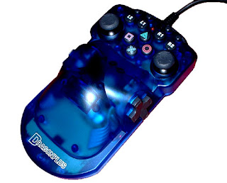 Image of a blue DragonPlus RPG DuoCon2 one handed controller.