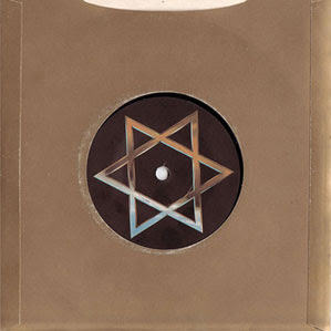 Image of 7 inch single with the Star of David in the centre - 'Israel' by Siouxsie and the Banshees.