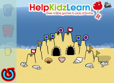HelpKidzLearn - Creative Build a Sandcastle activity pictured.