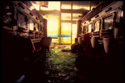 Ruined Pachinko Arcade in Japan.