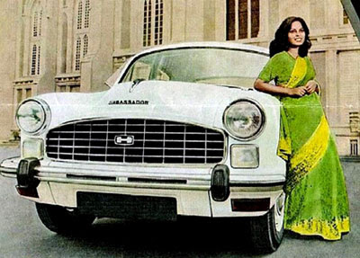 Image of a Hindustan Ambassador - Michelle Hinn not pictured!