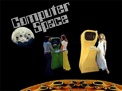 Image of Nutting Associate's 1971 Computer Space game in 1P and 2P iterations.