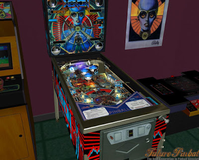 Image of Bally Xenon pinball machine in the virtual game room of Future Pinball.