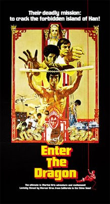Image of the film poster from Bruce Lee's Enter the Dragon.