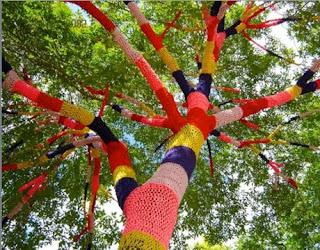 Fantastik örgü modelleri ağaçlara
