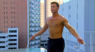 Jake Pavelka Shirtless on The Bachelor: On The Wings of Love episode 1