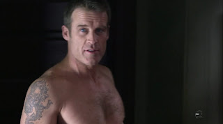 Mark Valley Shirtless on Human Target pilot