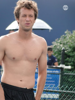 Philipp Kohlschreiber Shirtless at Cincinnati Open 2009