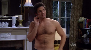 Brandon Barash Shirtless on General Hospital 20100223