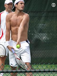Tommy Haas shirtless in Cincinnati Open 2009