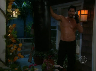 Don Diamont Shirtless on Bold and the Beautiful 20100405