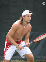 David Ferrer Shirtless at Sony Ericsson Open 2007