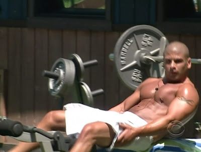 Russell Shirtless on Big Brother 11