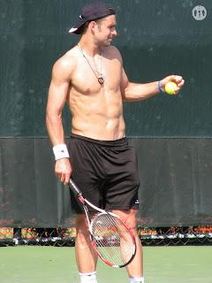 Nicolas Kiefer Shirtless at Miami Open 2009