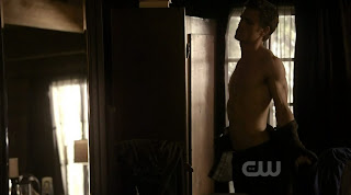 Paul Wesley Shirtless on Vampire Diaries s1e08