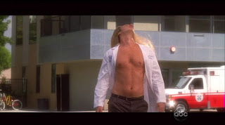 Zach Braff Shirtless on Scrubs s9e02