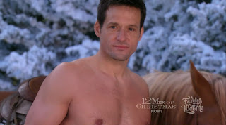 Josh Hopkins Shirtless on 12 Men of Christmas