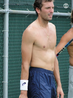 Julien Benneteau Shirtless at Cincinnati Open 2009