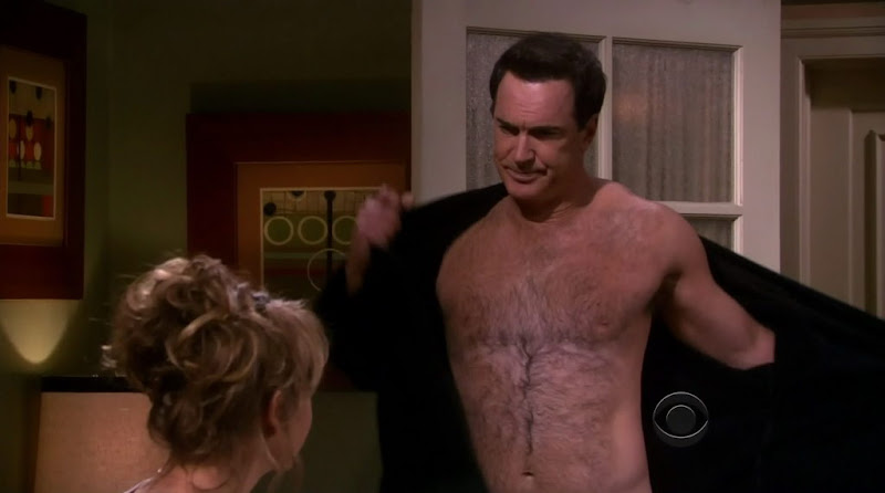Patrick Warburton Shirtless on Rules of Engagement s4e02