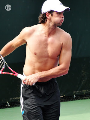 Fernando Verdasco Shirtless at Miami Open 2010