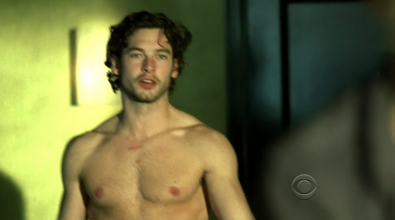 Jackson Davis Shirtless on CSI s10e16