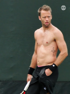 Robert Lindstedt Shirtless at Miami Open 2010