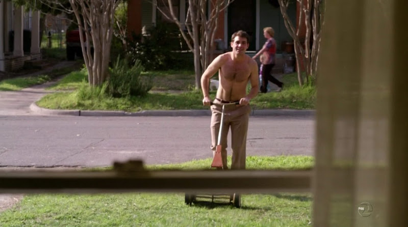 James Wolk Shirtless on Lone Star s1e01