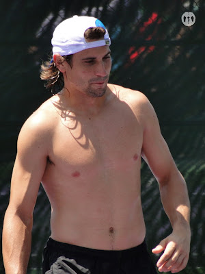 David Ferrer Shirtless at Miami Open 2010