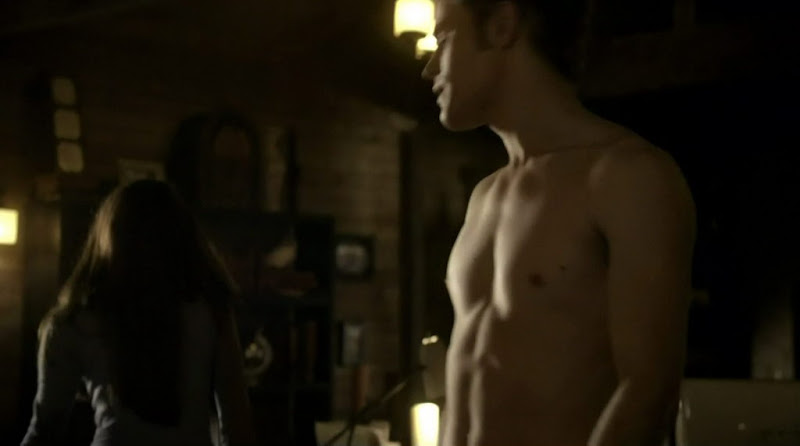 Paul Wesley Shirtless on The Vampire Diaries s2e12