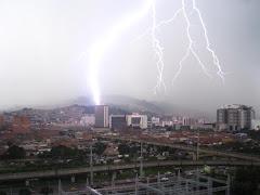 Rayo en Medellín. Colombia
