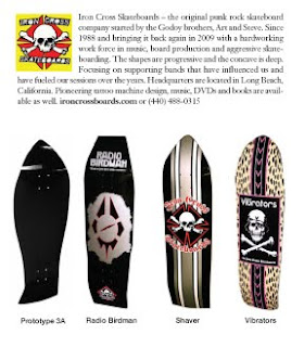 GODOY'S IRON CROSS SKATEBOARDS - click on boards to order